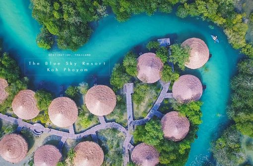 รีวิว THE BLUE SKY RESORT KOH PHAYAM รีสอร์ทฉายามัลดีฟส์เมืองไทย